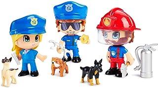 Pinypon Action - Figura Emergencia con Perro, Multicolor (Famosa 700015151)