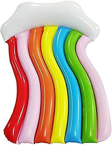 Dickes PVC, Aufblasbare Schwimmreihe, Regenbogenform, Geeignet Für Partys, Erwachsene, Kinder, Genie , Urlaub, Strand, Poolparty, Größe  170X70cm