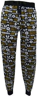 Mens Star Wars Jedi Knight Black Cuffed Lounge Pants Pyjama Bottoms Size S, M, L, XL