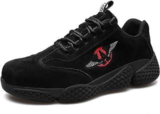 CHNHIRA Chaussures de Sécurité Chantiers Homme Embout Acier Protection Léger Chaussures de Travail Unisexes
