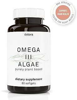 ESTORA Omega 3 DHA Algae Vegan Microalgae Algal Oil Supplement (60 Soft Gel Capsules)
