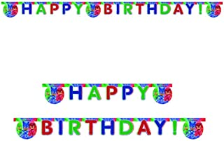 Procos 6 Die-Cut Happy Birthday Banner Pj Masks Entertainment One