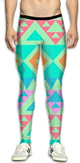 6352672062 BFDYDN Men¡¯s Compression Stereoscopic Pixel Pants Baselayer Running Tights  3D Print Fitness Sports