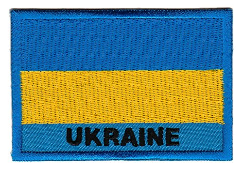 Bestellmich Flagge Ukraine Aufnäher Bügelbild Patch Applikation