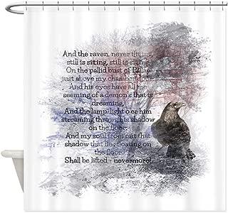 CafePress Edgar Allan Poe The Raven Poem Decorative Fabric Shower Curtain (69