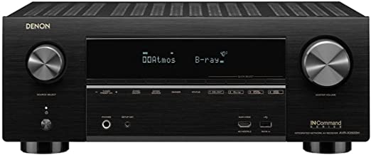 Denon AVR-X3500 Receiver - 8 HDMI Input/3 Output 7.2 Channel 4K Ultra HD Video | Home Theater Dolby Surround Sound (Renewed)