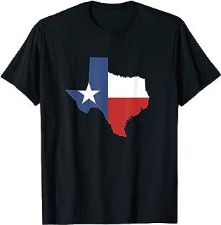 Texas T Shirt Women Men Kids   Texas State Flag Map T-Shirt