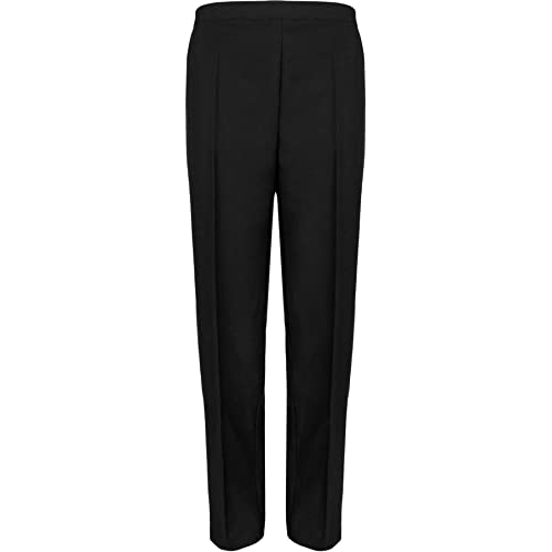 dff01b1d602a WearAll Ladies Elasticated Pocket Trousers Womens Pants Sizes 12-24