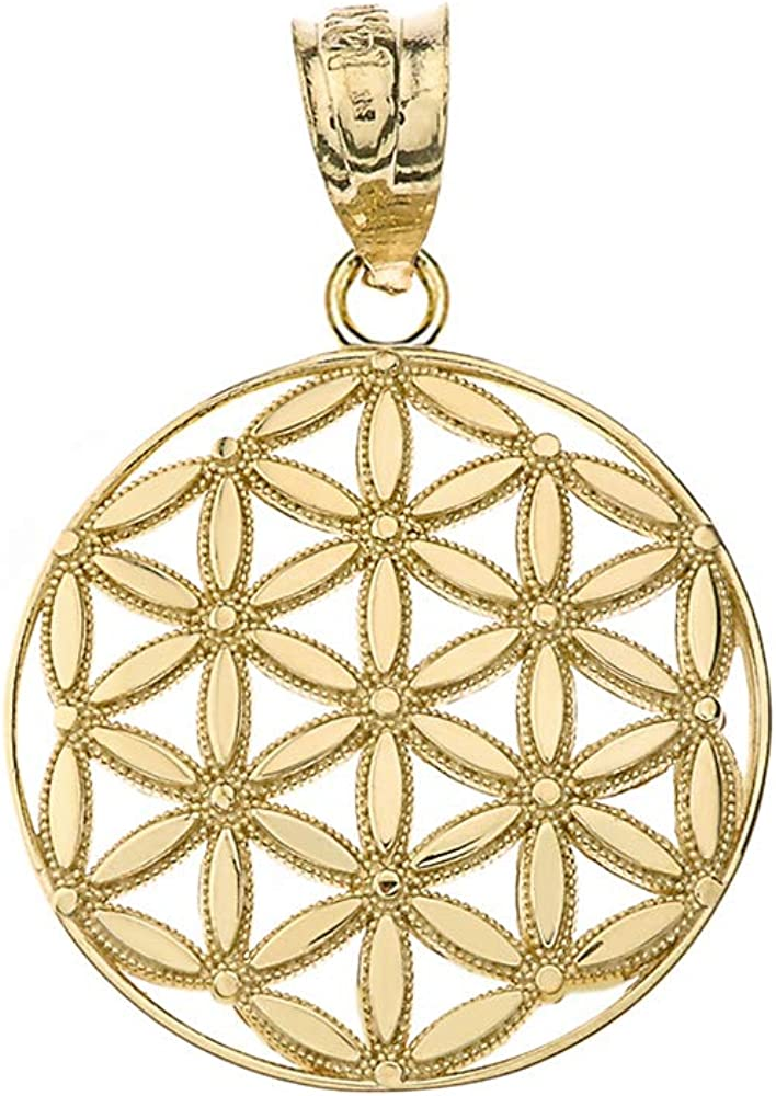 Round 67% OFF of Recommended fixed price Flower Of Life Sacred Geometry Spiritual Pendant Necklace