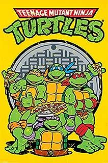 Pyramid International Teenage Mutant Ninja Turtles Retro Characters Cool Wall Decor Art Print Poster 24x36 inch