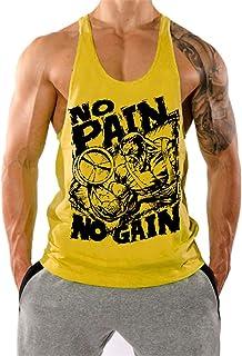 Amarillo Hombre HombreRopa esCamisetas Gym Amazon De Tirantes LMqSVpjUzG