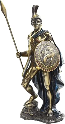 Veronese Collection, Hand Painted God of War Ares Figure, 33 cm Hard Polyresin (Marble Powder Mix) Trinket Figure