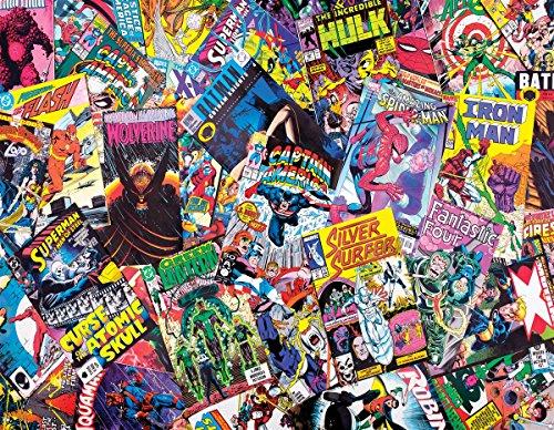 Springbok's 1000 Piece Jigsaw Puzzle Comic Books Galore - Made in USA