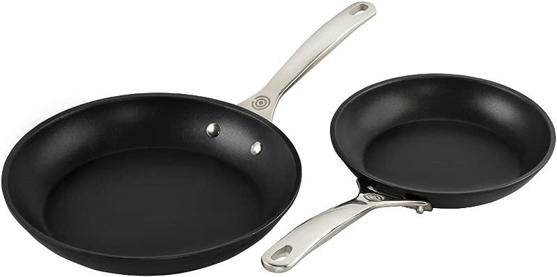 Le Creuset TNS6002 2 Piece Toughened Nonstick Fry Pan Set 8 10