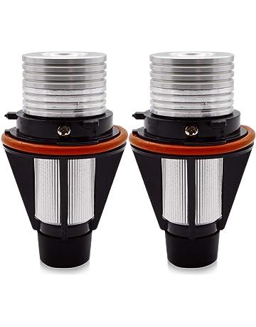 Akozon occhi dangelo 2PCS 12V 125W 3000lm U7 Faretto LED Faro bianco IP68 Faro con interruttore