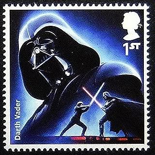 Darth Vader Star Wars UK -Handmade Framed Postage Stamp Art 0261