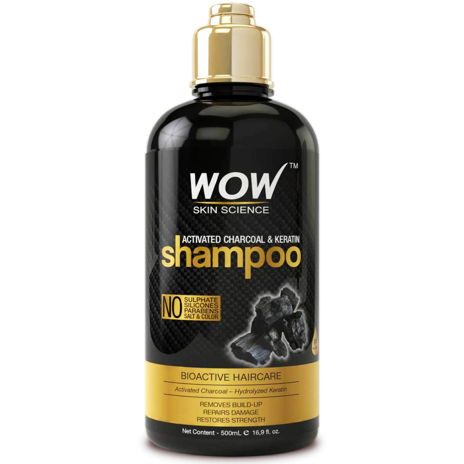WOW Activated Charcoal Keratin Shampoo