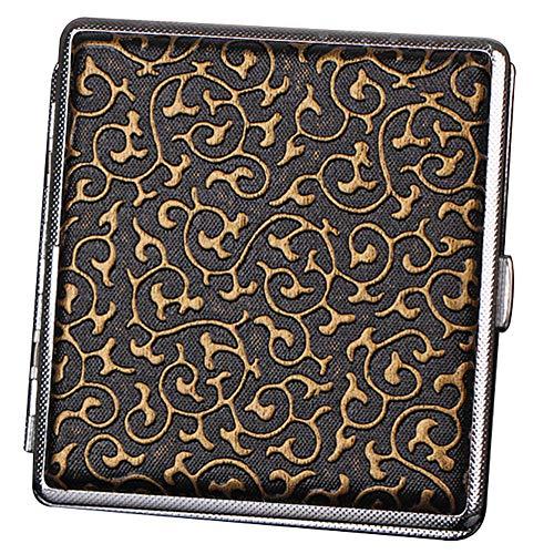 Cigarrillo Caja de Cigarrillos de Metal para 20 Cigarrillos, Caja de Cigarrillos Antiguos con Aspecto Elegante Grabado y cualidades Especiales,b