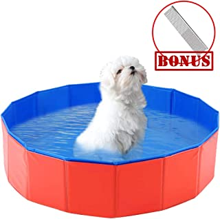 MLCINI Dog Pool Pet Pool Pool for Dogs Cleaner Playing Dog Swimming Pool for Pets Cats and Kiddie Outdoor and Indoor Collapsible