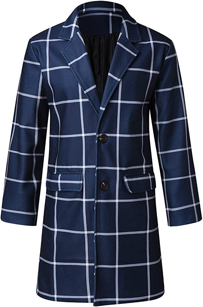 Stoota 2020 Winter Men Plaid Single Coat Trench Special price Long W Breasted Mesa Mall