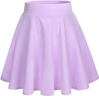 Bridesmay Donna Gonna Vita Alta Casual Solida Colore Mini Gonna
