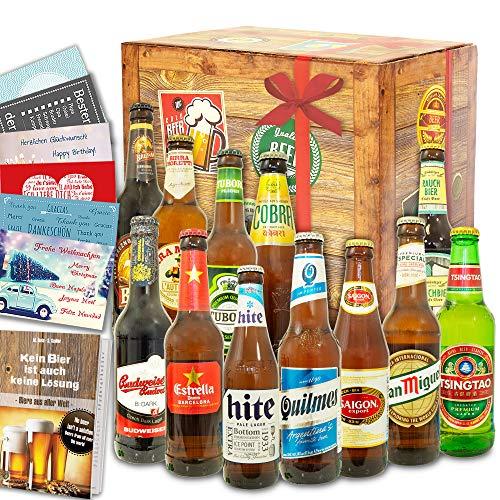 Biere der Welt 12 Flaschen/Bier aus aller Welt/Geschenk Geburtstag