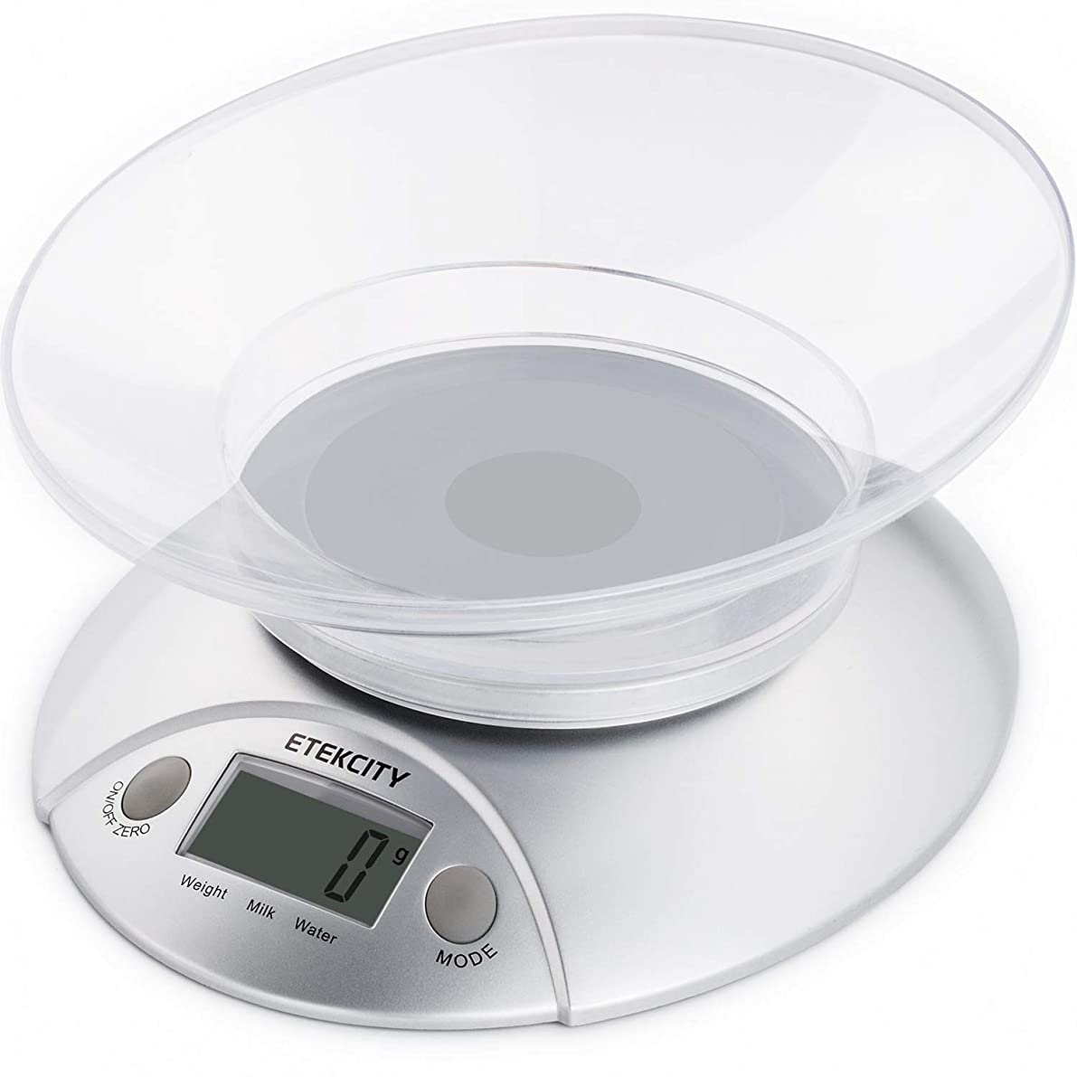 Etekcity Digital Kitchen Food Scale and Multifunction Weight Scale with Removable Bowl, 11 lb 5kg