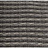 Grill Cloth - Black/Silver, 59' Wide