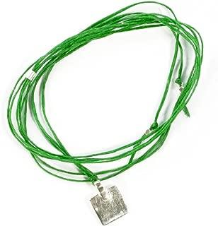 スコーシャ SCOSHA SN1/ワックスコーティングコードネックレス SIGNATURE NECKLACE(SQUARE)