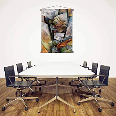 ArtzFolio Modernist Inspired Abstract Canvas Fabric Painting Tapestry Scroll Art Hanging 18inch x 23.3inch (45.7cms x 59.2cms)