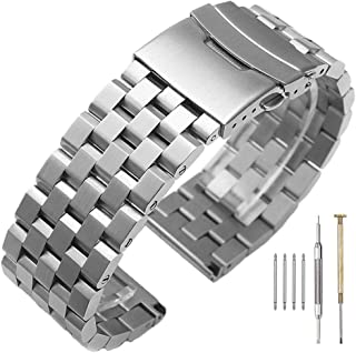 24mm stainless steel watch strap