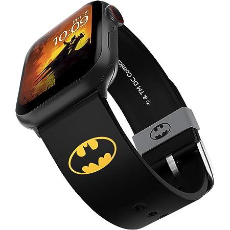 DC Comics - Cinturino per smartwatch Batman Icon con licenza ufficiale, compatibile con Apple Watch (non incluso) - adatto a 38 mm, 40 mm, 42 mm e 44 mm