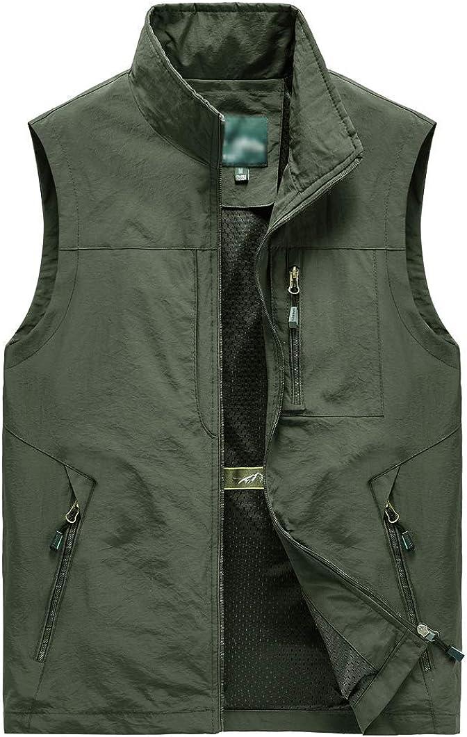 Duyang Men's Outdoor Multi Pockets Vest Lightweight Fishing Safari Travel Work Vest