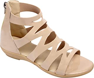 Stepee Zip Flat Fancy Sandal For Kids Gril