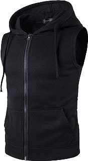 Men's Casual Gilet Waistcoat Hoodie Sleeveless Sweatshirt Vest JZA001