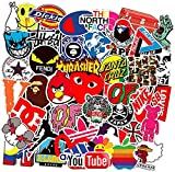 Street Fashion Sticker Decals(101pcs), Sanmatic Laptop Vinyl Stickers for Waterbottle,Hydro Flask,Snowboard,Luggage,Motorcycle,iPhone,MacBook,Wall,DIY Party Supplie