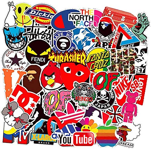 Street Fashion Sticker Decals(101pcs), Sanmatic Laptop Vinyl Stickers for Waterbottle,Hydro Flask,Snowboard,Luggage,Motorcycle,iPhone,MacBook,Wall,DIY Party Supplie Patches Decal