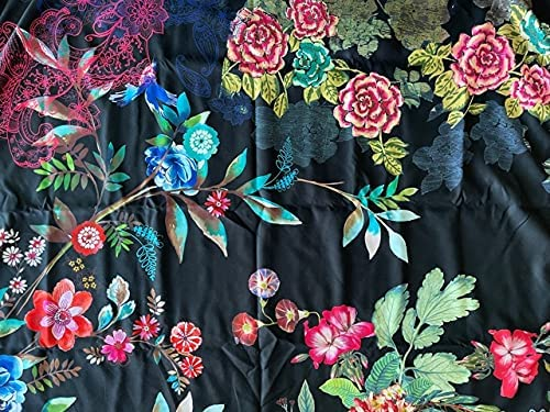 Johnny Was Black Dreamer Reversible shopping 40 B Indianapolis Mall Beach Flower Towel 70 x