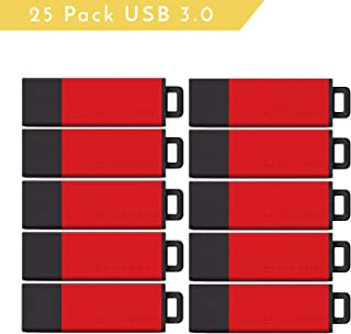 Centon Value Pack USB 3.0 Datastick Pro2 USB 3.0 Negro Adaptador de Cable, 25 Unidades, Rojo, 8 GB