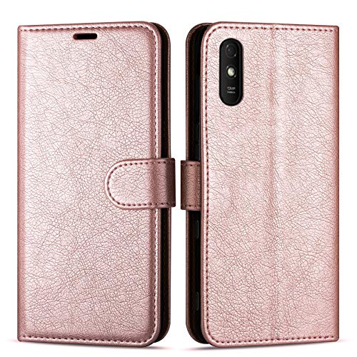 Case Collection Custodia per Xiaomi Redmi 9A Cover (6,53') a Libretto in Pelle di qualità Superiore con Slot per Carte di Credito per Xiaomi Redmi 9A Custodia