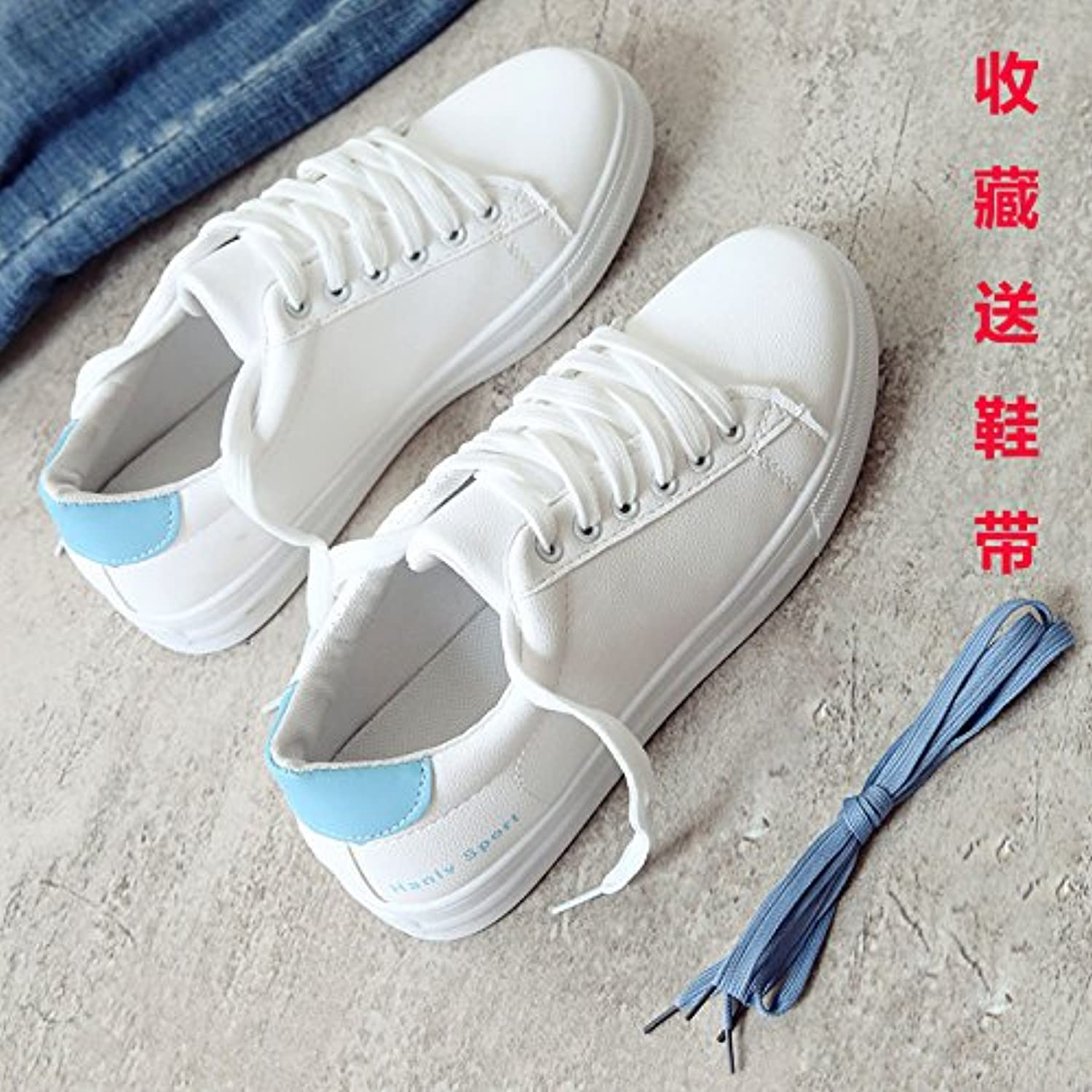 Xuancaiduo White shoes Female Flat shoes Casual shoes Running shoes Women's shoes Walking shoes Casual shoes Canvas shoes, bluee, 35