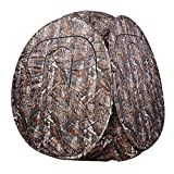 2 Men Persons Professional Portable Pop Up Ground Hunting Blind Wood Camouflage Steel Frame Window Tent and Carrying Case