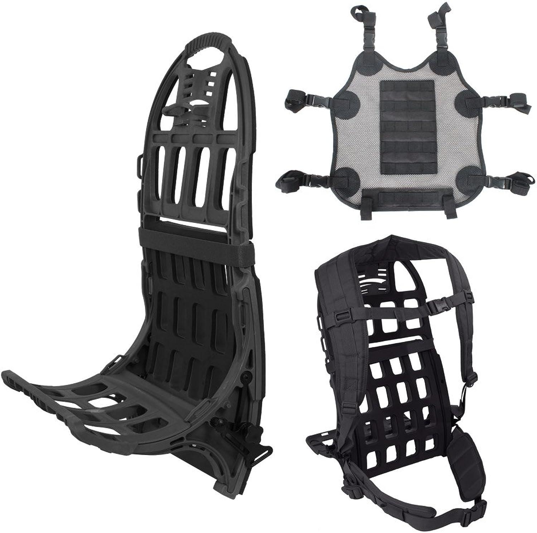 Sandpiper of California Pack Mule Frame System with Deluxe Shoulder Belt & Mesh Cargo Carrier Kit, schwarz