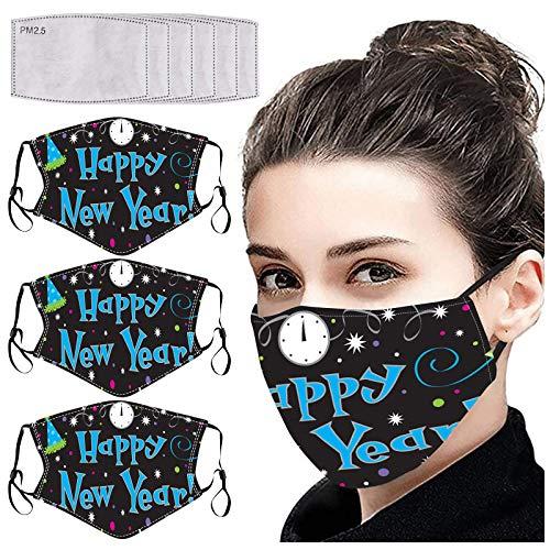 LANJIA Washable Face Protective - Wiederverwendbar und atmungsaktiv 2021 Frohes Neues Jahr Erwachsene 𝓼𝓴á𝓼𝓴 Waschbare wiederverwendbare Verschmutzung C0ver Face ṁɑşḱs