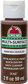 Apple Barrel 44848E Multi Surface Acrylic Paint, 2 oz, Milk Chocolate