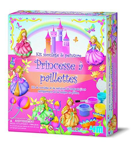 """Kit moulage et peinture """"Princesse à paillettes"""""""