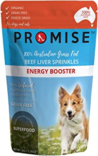 PROMISE Pet Treats - Organic Beef Liver Sprinkles/Tasty and Healthy Sprinkles for Dogs - High in Amino acids, Iron and Vit...