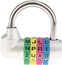 4-cijferig combinatieslot hangslot letter cijferslot - zilver
