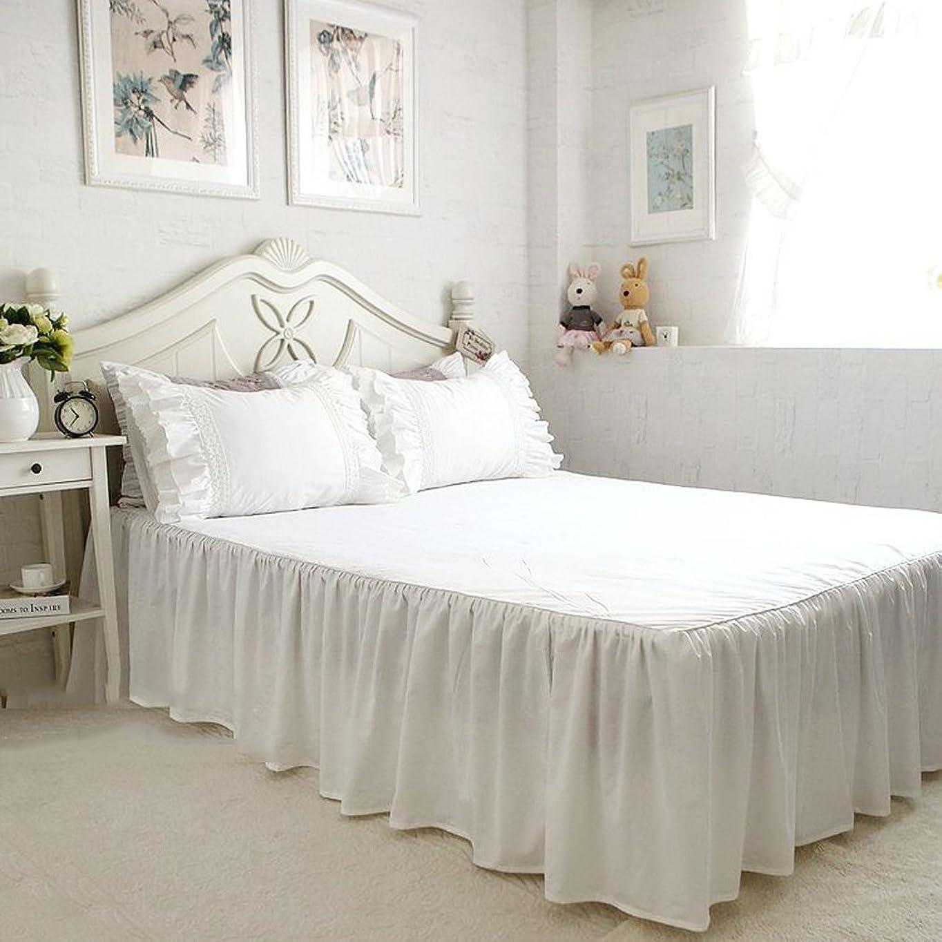 妖精に変わる味付け無地 ホワイト綿100%ベッドカバー 1枚 140*200+45cm ダブル