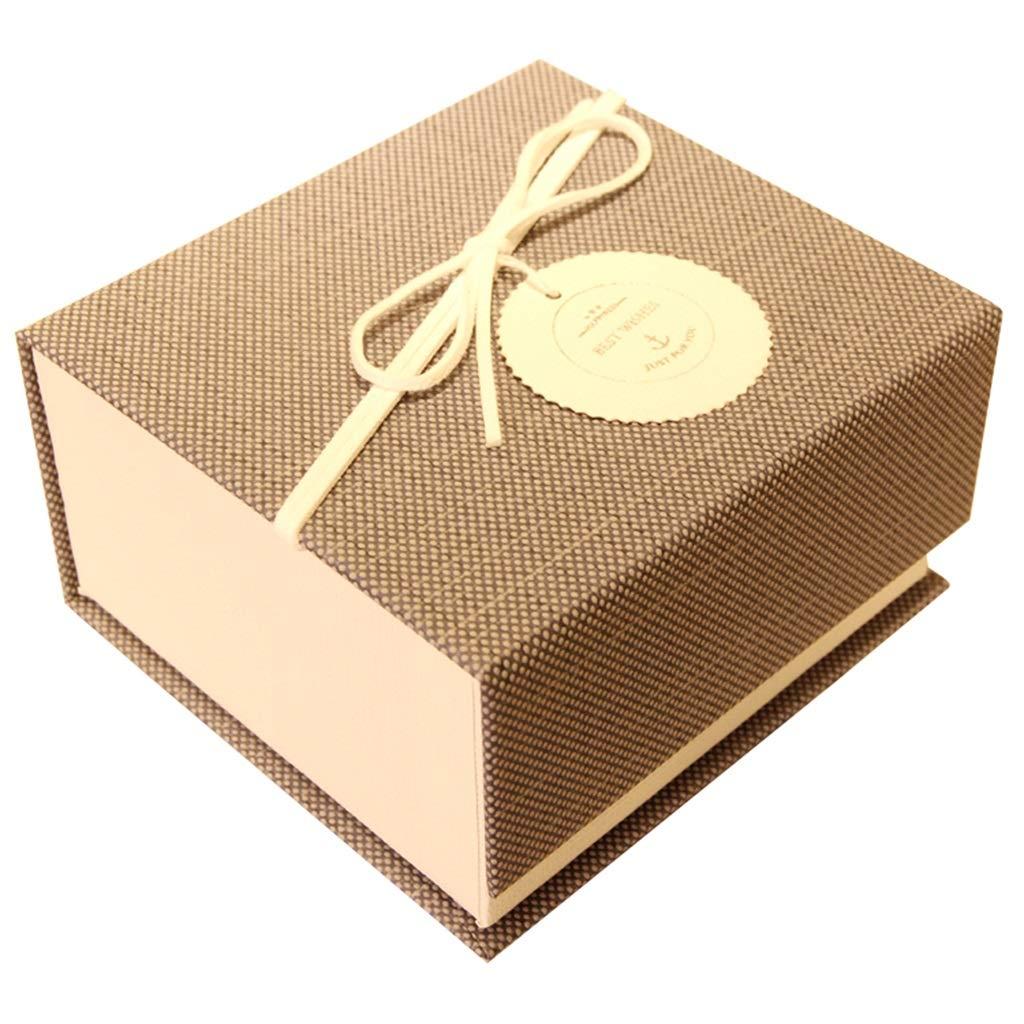 Joyero Simple Diseño de Cubierta Material de cartón Duro Perfume Lápiz Labial Cosméticos Caja de Regalo pequeña Marrón: Amazon.es: Hogar